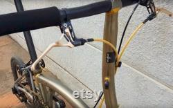 2 x Leviers de frein ultra légers pour BROMPTON en laque gold raw paire 65G