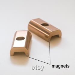 2 x Plaques de pince de charnière magnétique pour les leviers de pinces BROMPTON ROSE GOLD