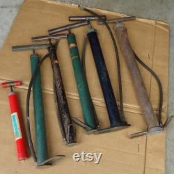 9 pompes de vélo vintage lot, pompe à main de pression d air de pneu de boule