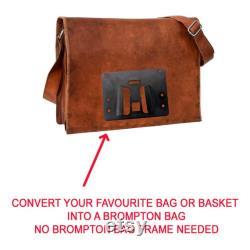 Adaptateur sac pour BROMPTON (Utilisez votre sac sans le cadre) 120x110mm