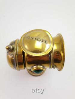Antique Brass Bike Bycicle Vitapare Carbide Lamp Lantern