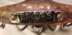 Antique Brooks Siège de vélo Antique Siège de vélo Antique Angleterre Antique Siège de vélo Antique Siège en cuir antique