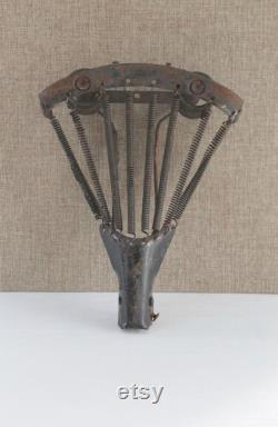 Antique Metal Bicycle Spring Saddle Shell Bike Seat, Siège vélo antique