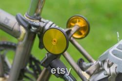 BROMPTON CUSTOM SET Easy Wheels Suspension en titane Bell Base Gold Laque brute