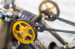 BROMPTON CUSTOM SET Easy Wheels Titanium Suspension Bell Gold Raw Laque