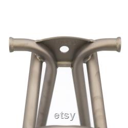 BROMPTON Titanium Rear Frame Triangle and Fork set (Made in Europe) Gris clair