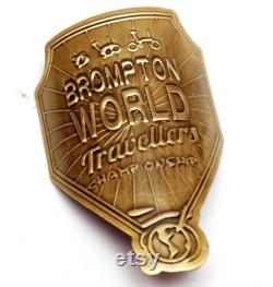 BWC Metallic Head Tube Badge pour BROMPTON RAW Lacquer Brompton World Championship Design