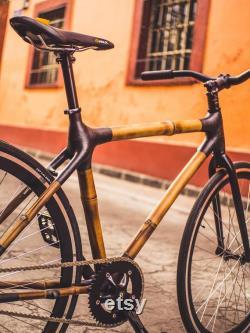 Bamboocycles Insurgentes 700x28 bambou fibre de carbone Single Speed Fixie