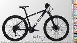 Bianchi BIKES 02 Sticker Set 12 pièces Bicycle Frame Sticker for Rebuild Repair, 12 Decals Bike Frame Sticker for restoration