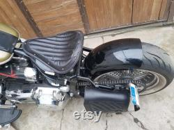 Bobber-choppers siège solo et sac en cuir de bras swing pour Harley Davidson Softail, Yamaha Dragstar, Kawasaki Vulcan, Honda Shadow