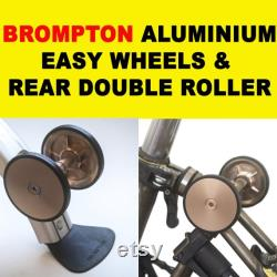 BromPTON Set Aluminium Easy Wheels Rear Double Roller ROSE GOLD Léger