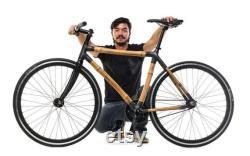CITY BIKE Insurgentes Bamboo Cadre de vélo (700c Vitesse unique)