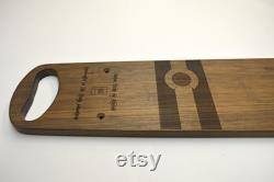 CO Proud Custom Wood Deck pour XtraCycle (vélo Cargo) Handmade in Colorado du noyer massif et gravé Laser CO Flag Graphic
