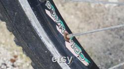 Cadre en acier rare Colnago (fr) 26 VTT Vieux vélo Noir Shimano Deore XT Années 1990 France Pièces de vélo Pour la collecte Collectionnable Vintage