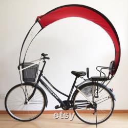 Canopée bicolore pour cycliste