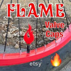 Chapeaux de valve de flamme 1 paire Schrader pour le camion 3D imprimé de camion de roue de voiture de vélo