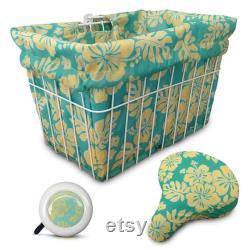 Cruiser Candy Bicycle Basket Liner, Couverture élégante de panier de vélo, sac de yoga, sac de plage. Cloche assortie de bicyclette, cloche de vélo, paquet rembourré de couverture de siège
