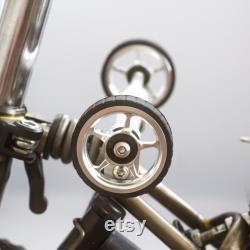 Easy Wheels Extender ver 2.0 Pour BROMPTON 2 Roues Améliorée Version SILVER