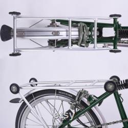 Ensemble rack complet pour BROMPTON (Rack 4 roues) Vert argent noir