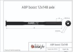 Essieu arrière HardLite (brochette de vélo) ABP Boost 12mm x 148 mm