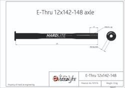 Essieu arrière HardLite (brochette de vélo) E-Thru 12mm x 142-148mm