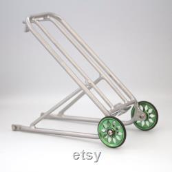 Étagère à bagages à crémaillère arrière standard BROMPTON roues Eazy (en option) ARGENT VERT