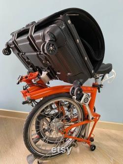 Étui de voyage semi-dur pliant pour BROMPTON (convertit en sac avant)