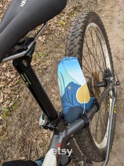 Fender de vélo de montagne de forêt de champignon
