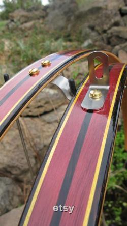 Garde-boue de vélo de bois coeur pourpre avec coeur jaune et ailes de vélo de rayures de Wenge.