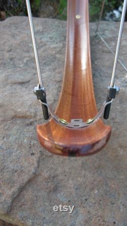 Garde-boue de vélo en bois- Sapelle de courbe composée entièrement formée avec la bande de Wenge. Garde de boue, vélo, vélo de tourisme, urbain, bois, boisé, NYC