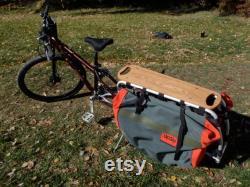 Graphique de Vintage Fleur pétale w de puissance Custom Wood Deck pour XtraCycle (vélo Cargo) Handmade in Colorado du noyer massif Laser gravé