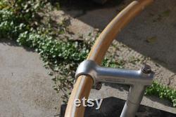 Guidon de vélo en bois incurvé Chêne Aluminium