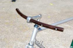 Guidon de vélo en bois incurvé Wenge Aluminium