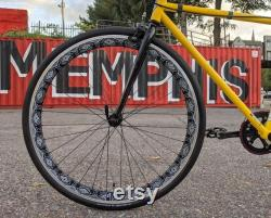 Hand Painted 700c Front Wheel for Fixie, Track, Single Speed, and Road Bike