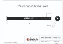 HardLite arrière à travers l essieu (brochette de vélo) Maxle boost 12mm x 148-150mm