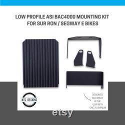 Kit de montage ASI BAC4000 à profil bas Noir CNC 6061 support en aluminium Bac4k Nouveau Made In USA pour Sur Ron Segway Electric Bike