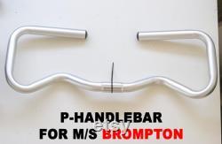 Mini Type P Handlebar pour BROMPTON S M Type Stem SILVER