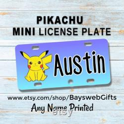 PIKACHU Mini Plaque d immatriculation Personnalisé Custom Bike Tag Wagons Tricycles Scooters ATV 4 Wheelers Motorcycles Bike Accessories