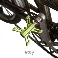 Pédales à dégagement rapide pour BROMPTON X-shape 304g Paire LIME GREEN