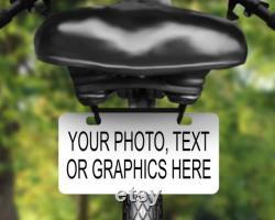 Personnalisez cette étiquette de vélo en aluminium, plaque d immatriculation imprimée avec votre photo préférée ou en disant