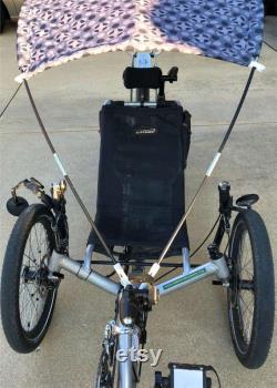 Protection pour vélo couché à 3 roues