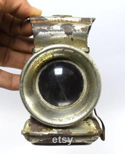 Rare Antique Collective Joseph Lucas Birmingham Iron Bicycle Lamp lantern Batterie OpéréE phare de torche vintage pour vélo. G32-31