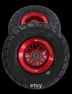 Roues à billettes RS1 avec pneus pour Goped GSR Bigfoot GTR Red