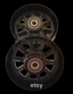 Roues billet pour Goped Sport Go-ped aluminium noir
