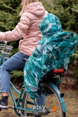 Siège de bicyclette d enfants de couverture de pluie avec le réflecteur