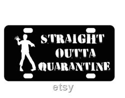 Straight Outta Quarantine Zombie Personnalisé Mini License Plate-Bike Plate-Kid s Door Sign