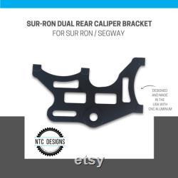 Sur Ron Dual Rear Caliper Bracket Noir Anodisé CNC 6061 aluminium Direct Bolt On New Made In USA Pour Sur-Ron Electric Bike