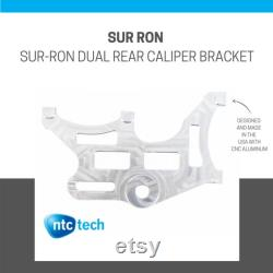 Sur Ron Dual Rear Caliper Bracket Unfinished Silver CNC 6061 aluminium Direct Bolt On New Made In USA For Sur-Ron Electric Bike