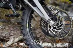 Sur Ron Rear Shark Fin Style Disc Guard Noir CNC 6061 aluminium Direct Bolt On New Made In USA Pour Sur-Ron Electric Bike