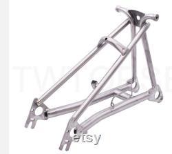 Triangle de cadre arrière en titane pour BROMPTON SILVER